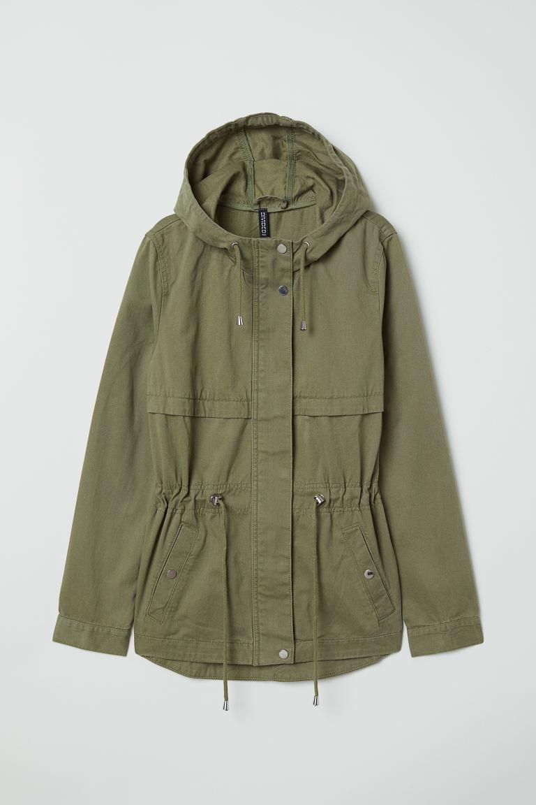 Short Green Parka Jacket