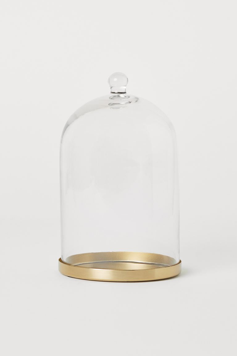 Glass Dome - Clear glass/gold-colored - Home All | H&M US