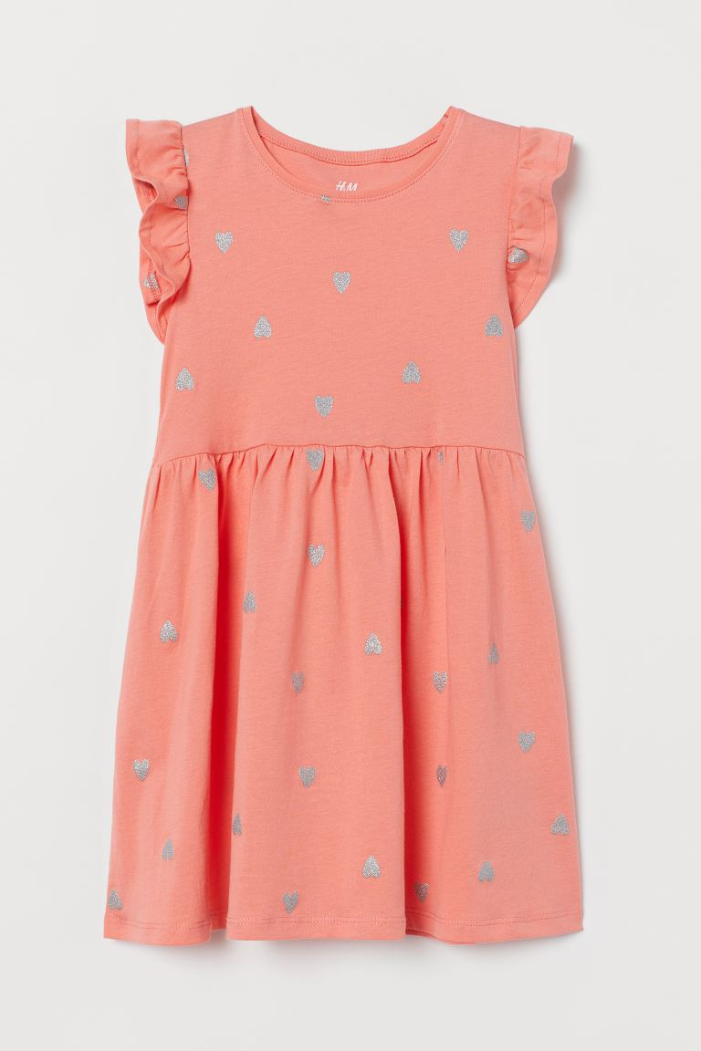 Jersey Dress - Coral/hearts - Kids | H&M US