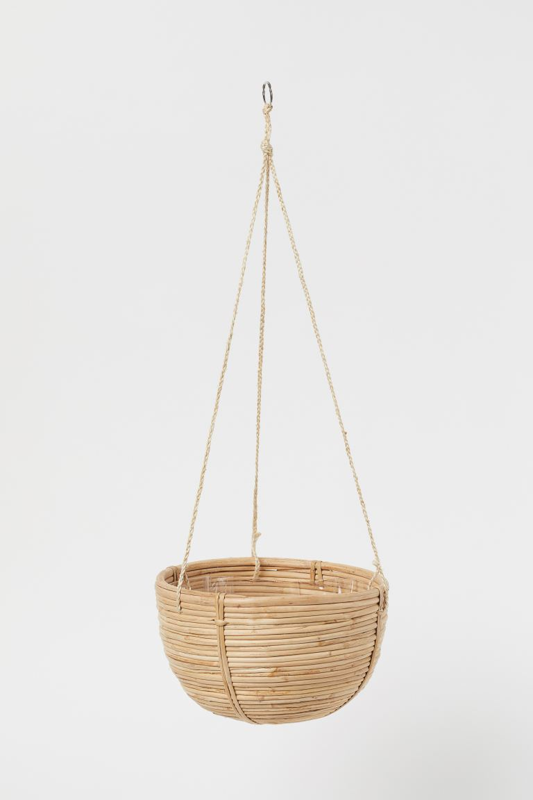 Large Rattan Hanging Basket - Beige - Home All | H&M US