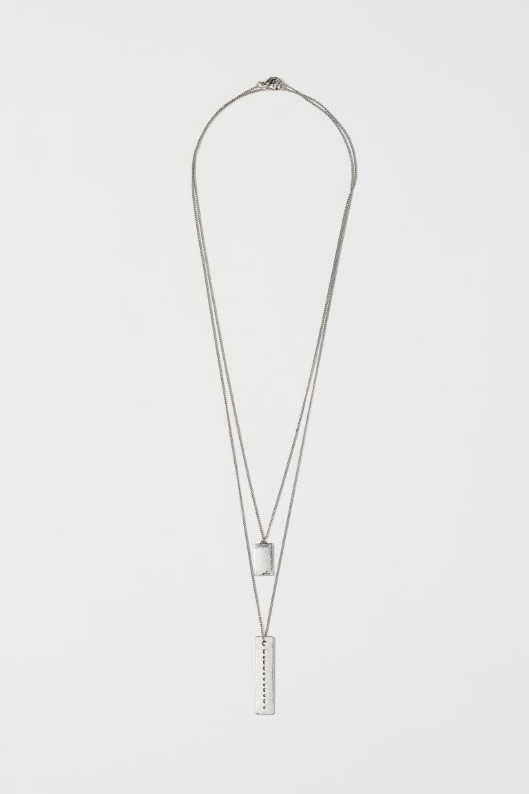 2-pack Necklaces - Silver-colored - Men | H&M US