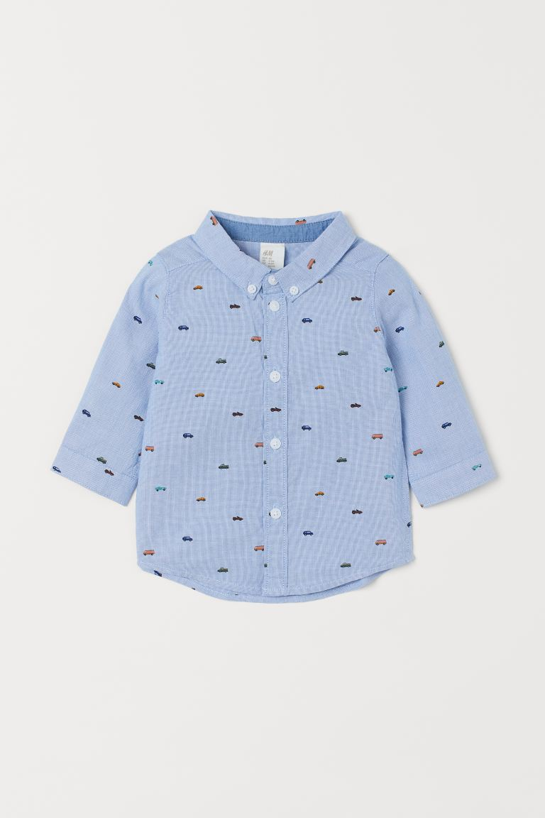 Cotton Shirt - Blue/cars -  | H&M CA