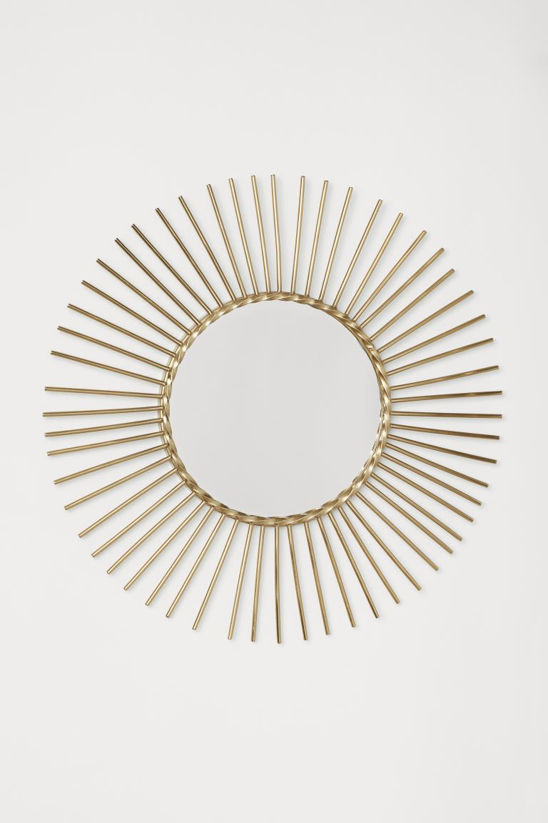 Round Mirror - Gold-colored - Home All | H&M US