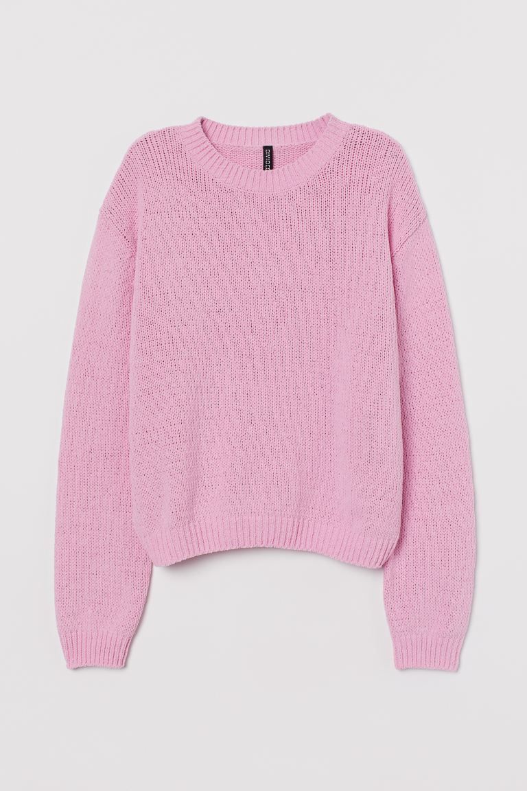 Knitted jumper - Light pink - Ladies | H&M IE