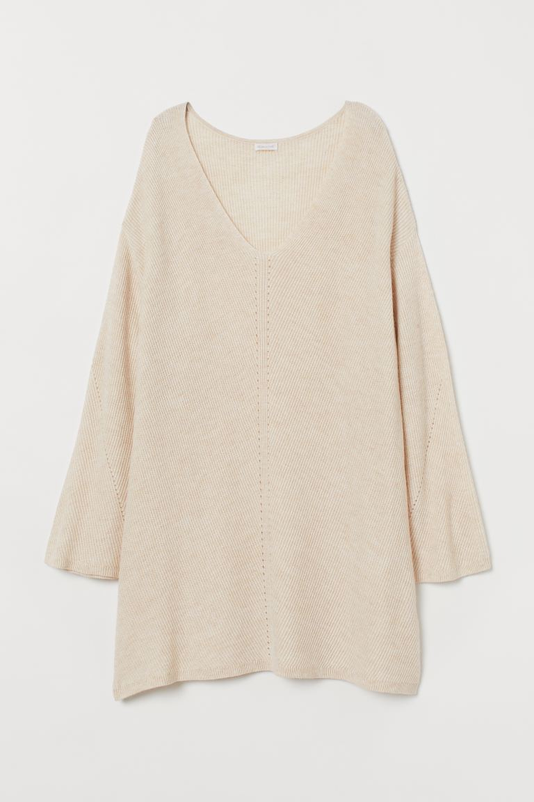 Ribbed jumper - Light beige marl - Home All | H&M GB