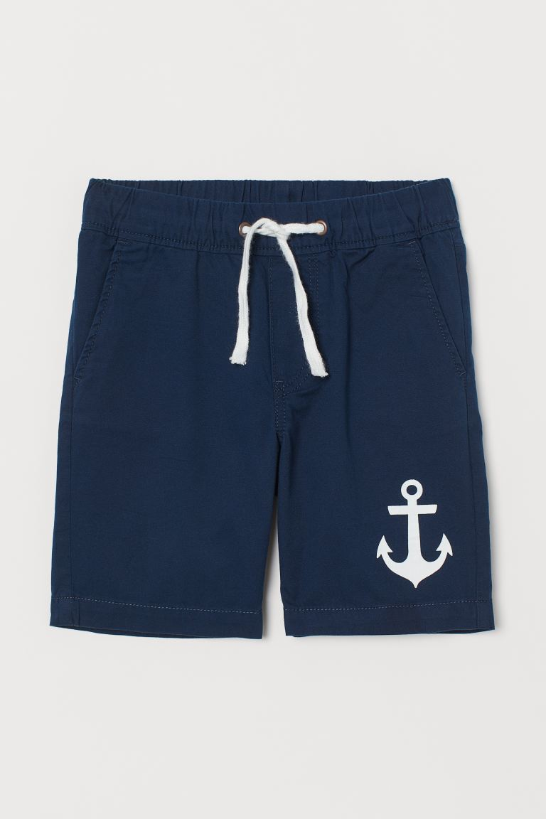 Shorts in twill - Blu scuro/ancore - BAMBINO | H&M IT