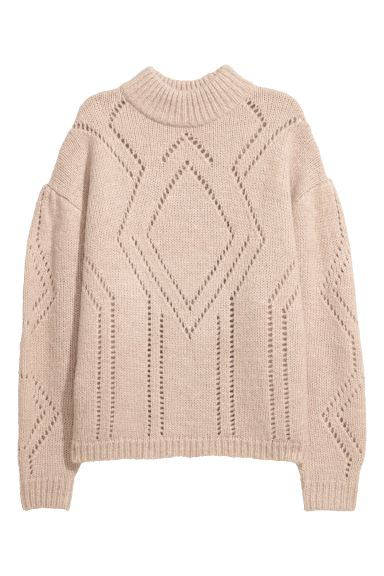 Knit Sweater - Light beige - Ladies | H&M CA
