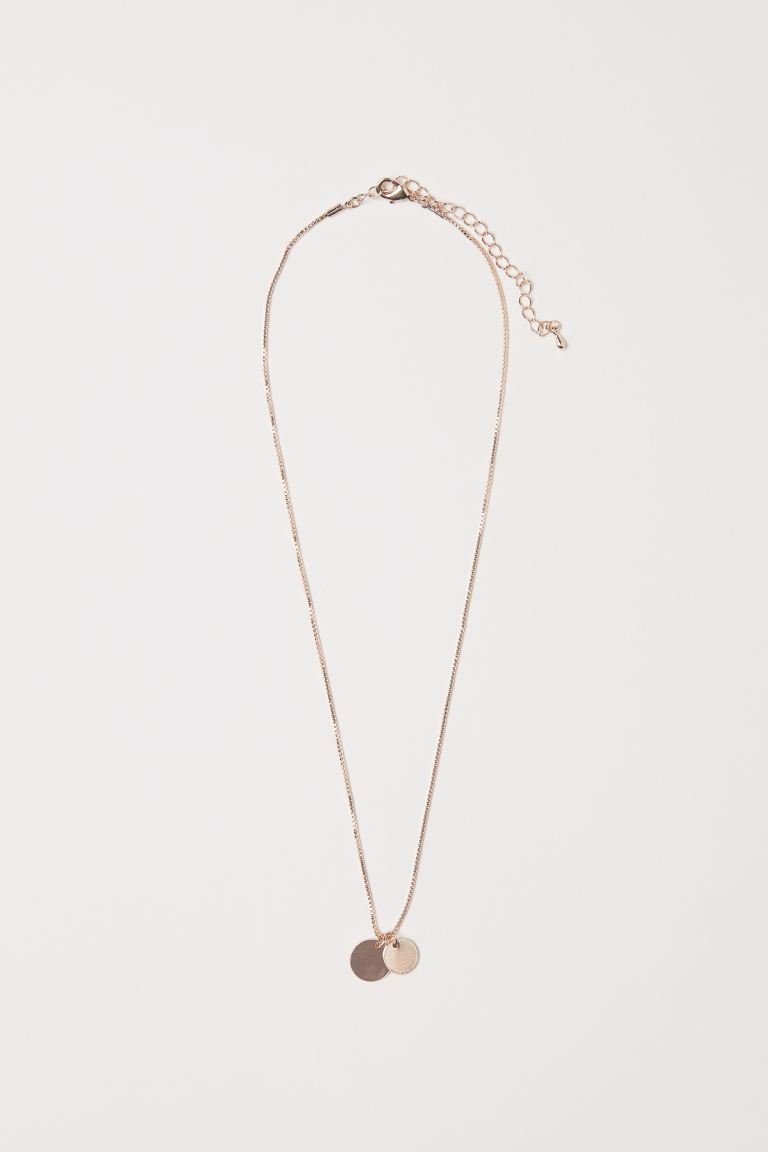Necklace with Pendants - Rose gold-colored - Ladies | H&M US