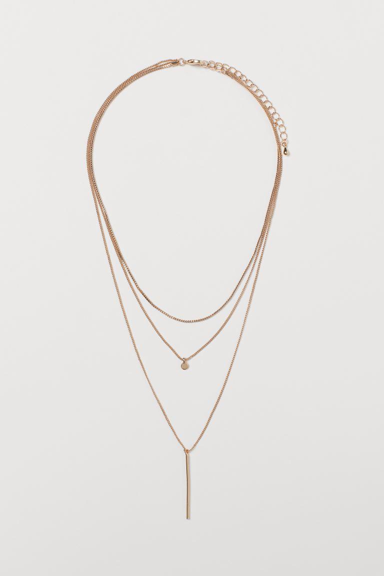 Multi-strand necklace - Gold-coloured - Ladies   H&M GB