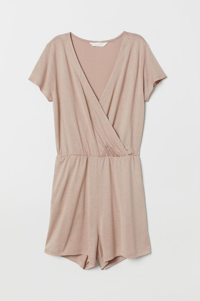 Jumpsuit aus Jersey - Puderbeige - Ladies | H&M AT