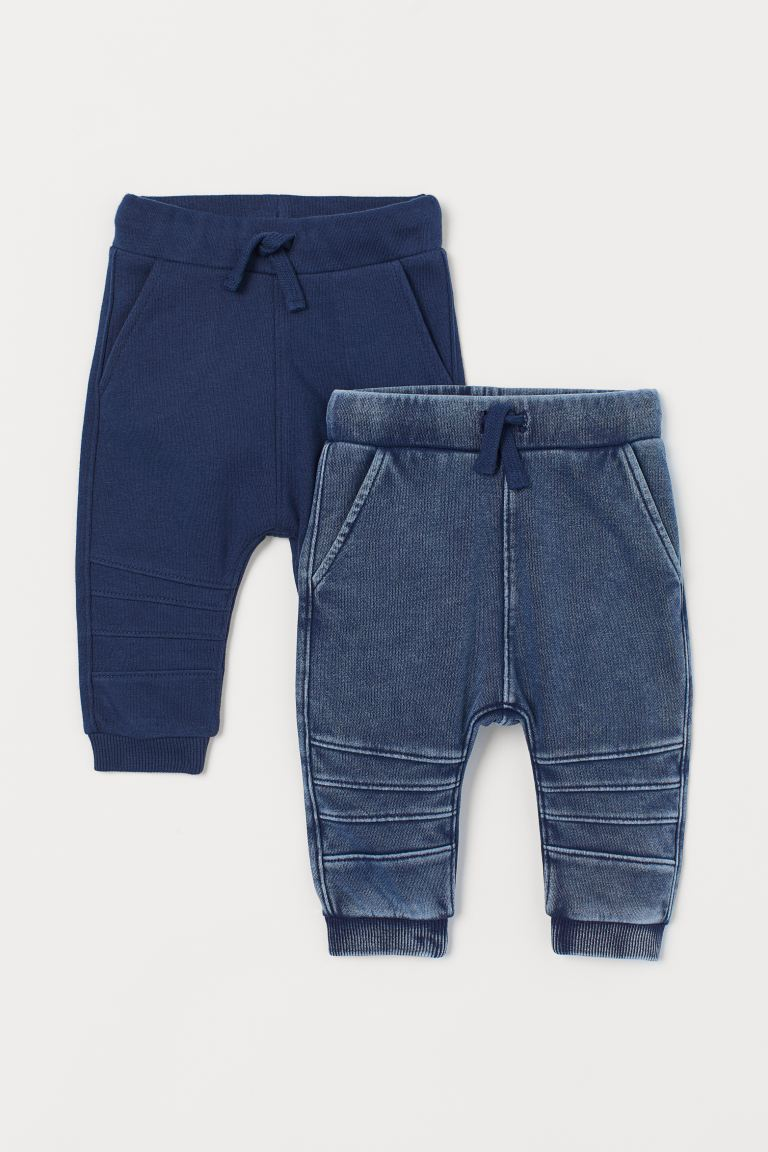 2-pack joggers - Dark blue -  | H&M