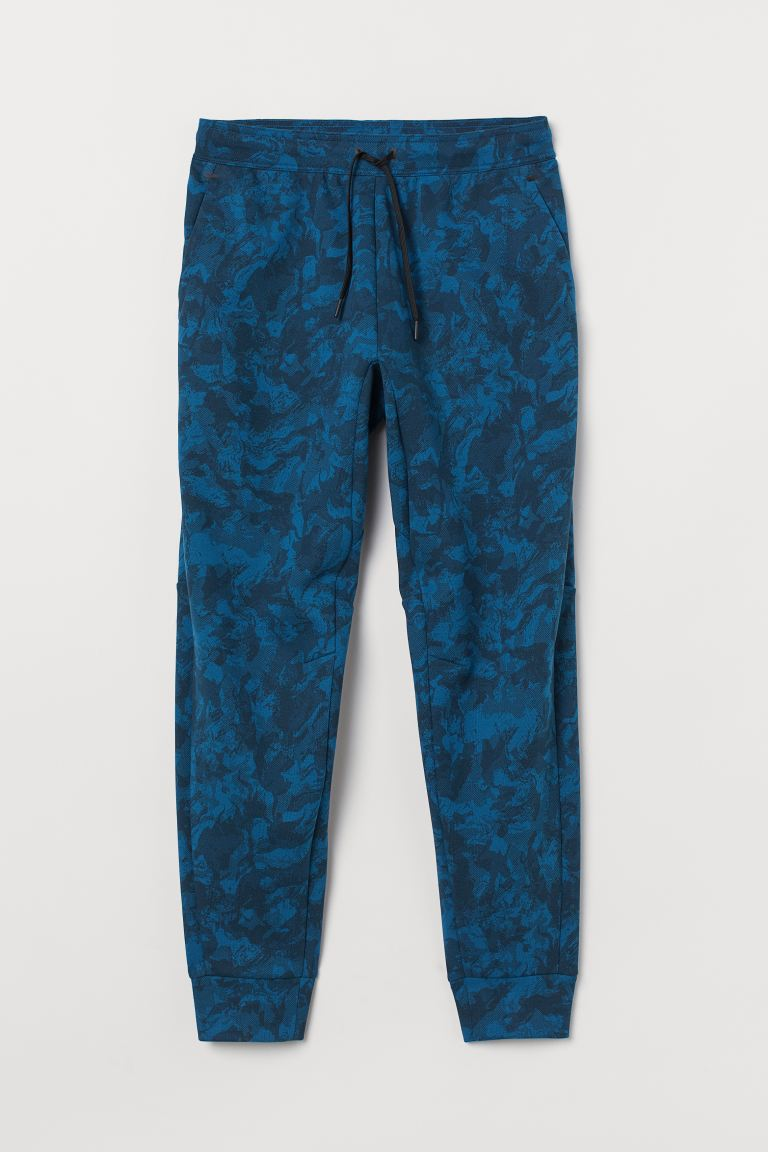 Sports joggers - Blue/Patterned - Men | H&M GB