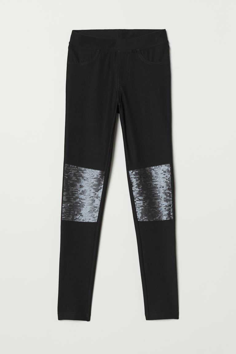 Treggings - Nero/paillettes reversibili -  | H&M IT