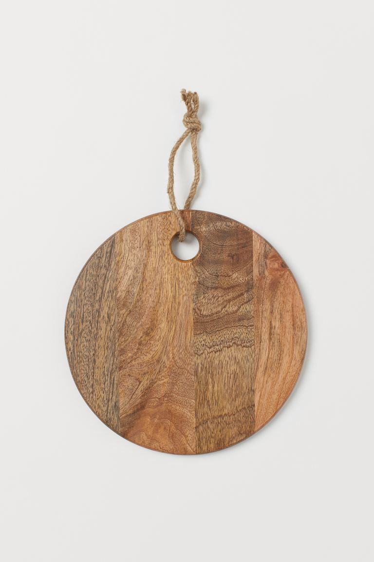 Round Mango Wood Cutting Board - Brown - Home All | H&M US