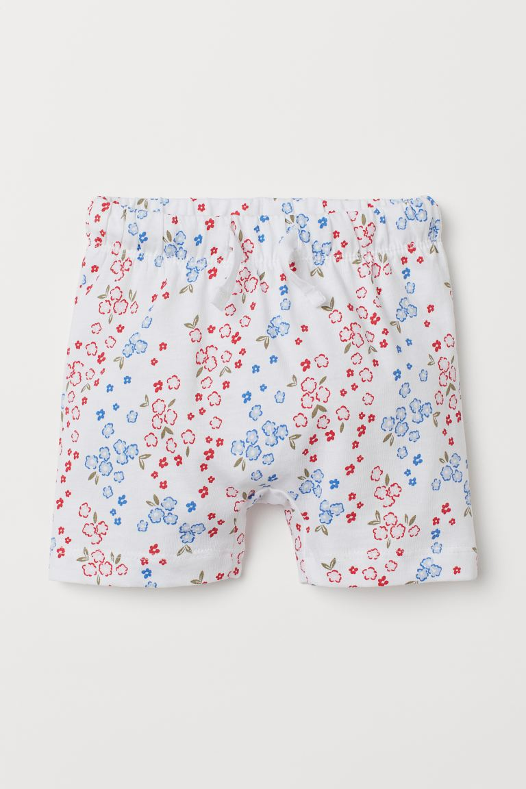 Jersey Shorts - White/floral - Kids | H&M US