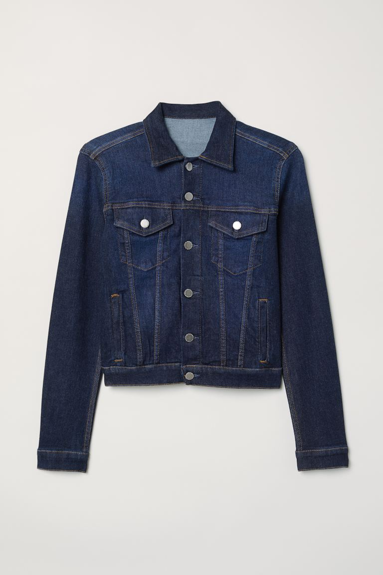 Denim jacket - Dark denim blue - Ladies | H&M GB