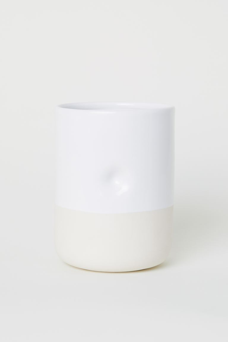 Ceramic Kitchen Utensil Holder White