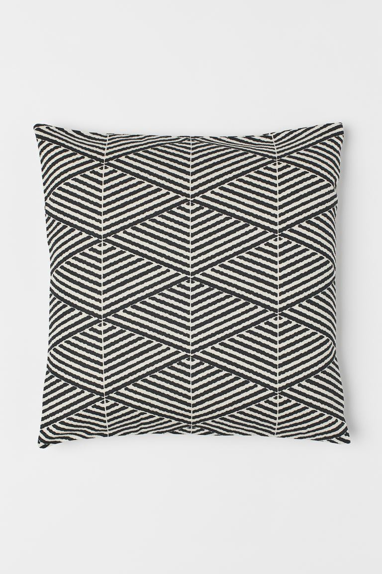 Canvas cushion cover - Anthracite grey - Home All | H&M GB