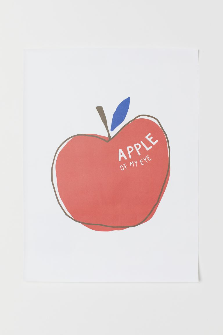 Poster - Blanc/Apple Of My Eye - HOME | H&M BE