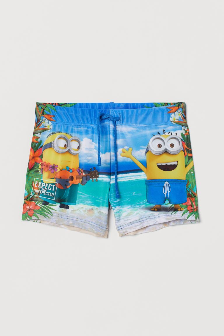 Printed swimming trunks - Bright blue/Despicable Me - Kids   H&M GB