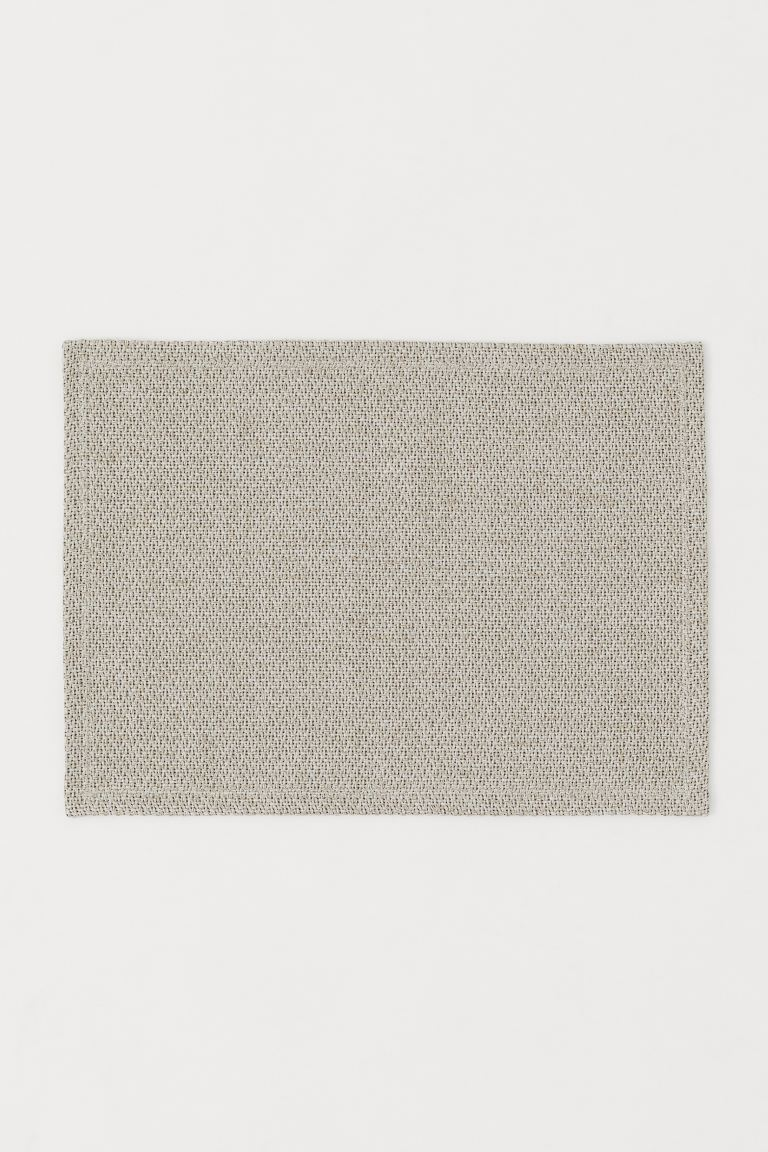 Braided Placemat - Beige melange - Home All | H&M US