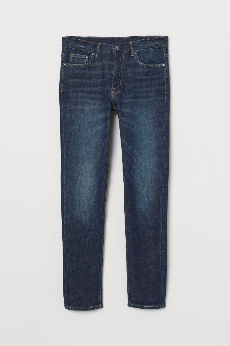 Slim Jeans - Dark denim blue - Men | H&M US
