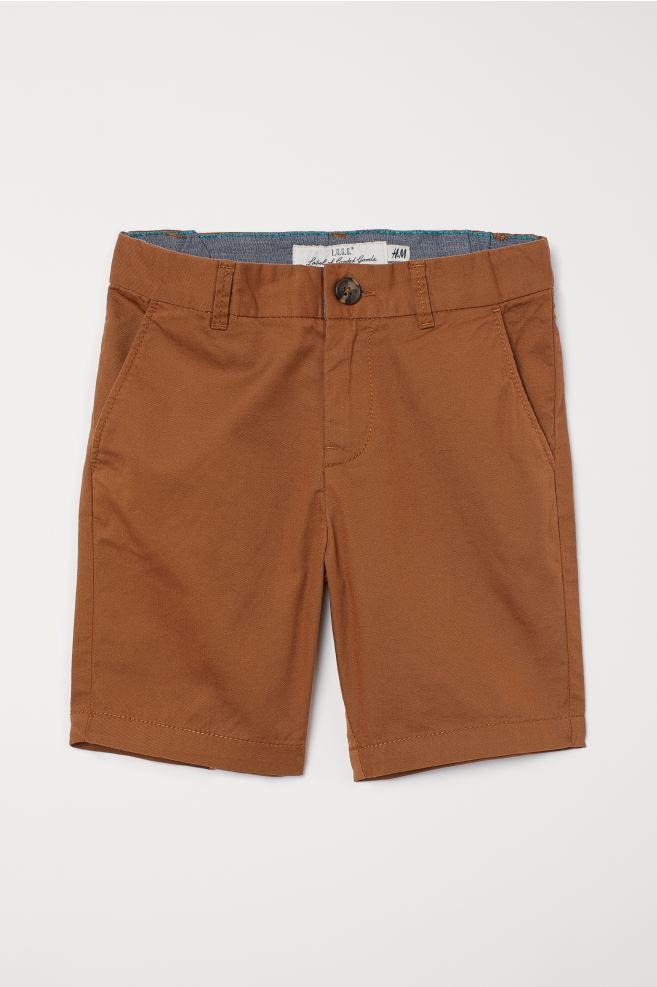 Cotton Chino Shorts - Brown - Kids | H&M US 2