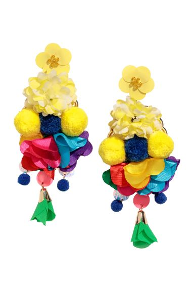 Large earrings - Yellow - Ladies | H&M GB