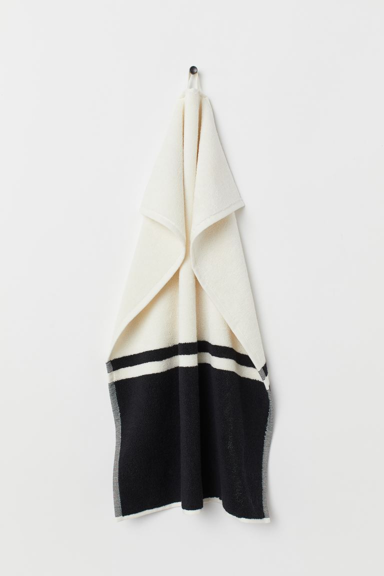 Serviette color block - Noir/blanc - HOME | H&M BE