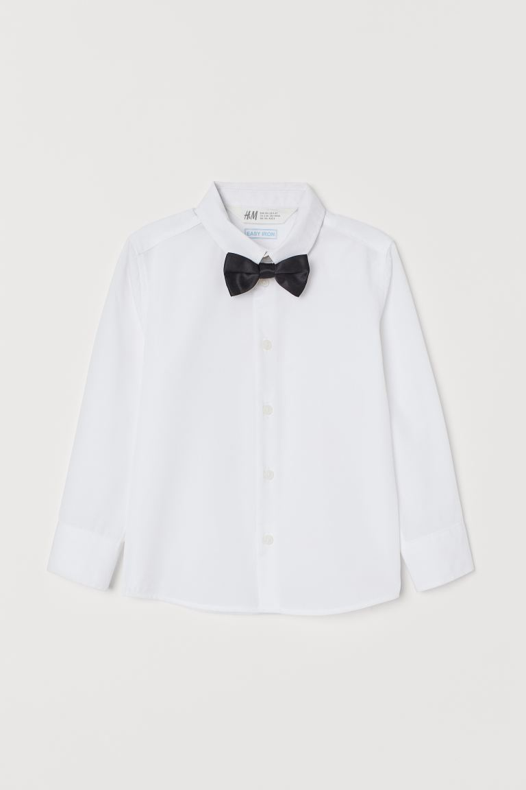 Shirt and tie/bow tie - White/Bow tie - Kids | H&M