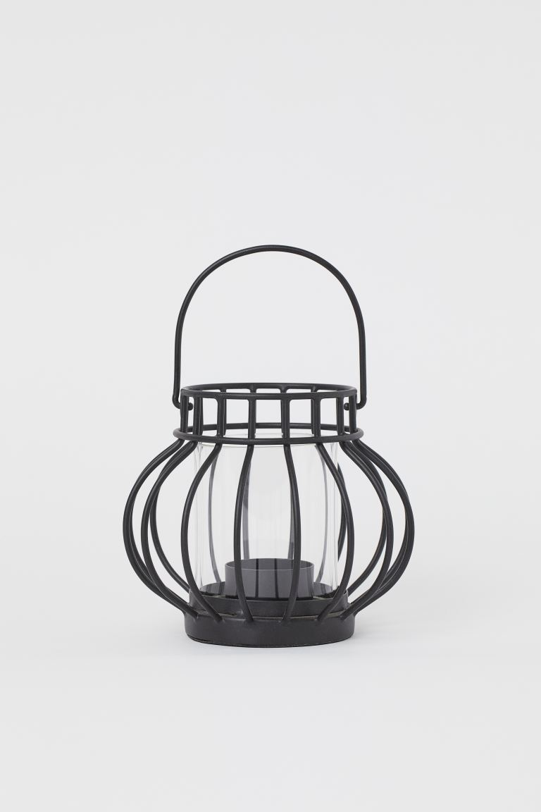 Metal tealight holder - Black - Home All | H&M GB