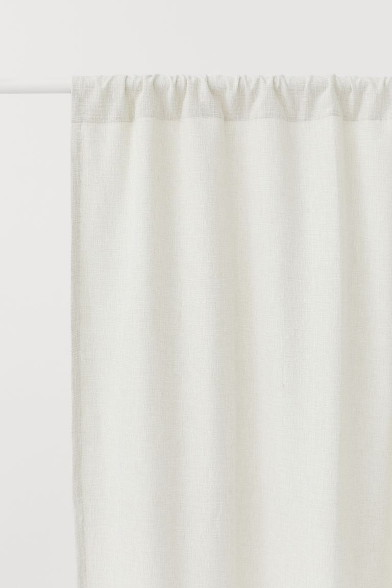 Pack de 2 paneles de cortina - Blanco natural - HOME | H&M ES