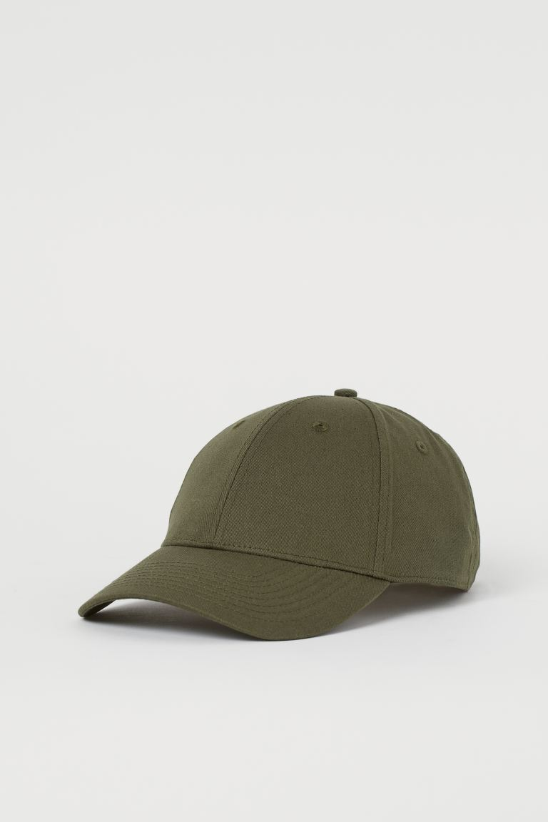 Cotton Twill Cap - Dark khaki green - Men | H&M US