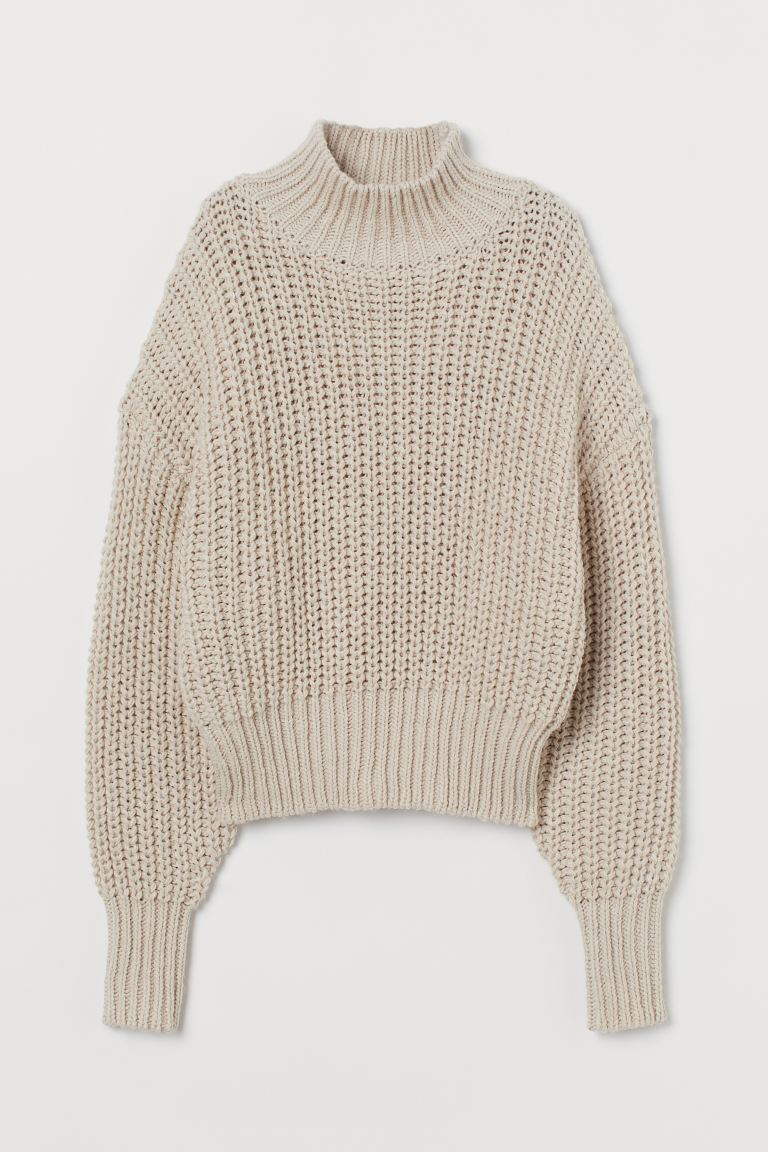 Chunky-knit jumper - Light beige - Ladies | H&M IN