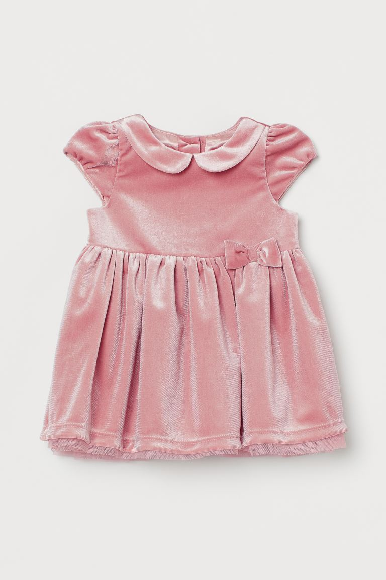 Velour dress - Old rose - Kids | H&M