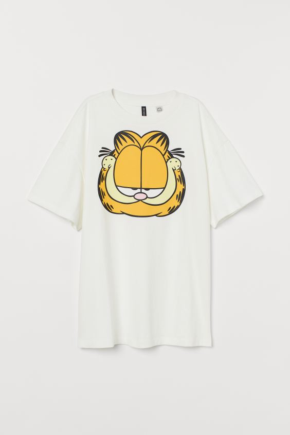 Oversized T-shirt - White/Garfield - Ladies | H&M 4