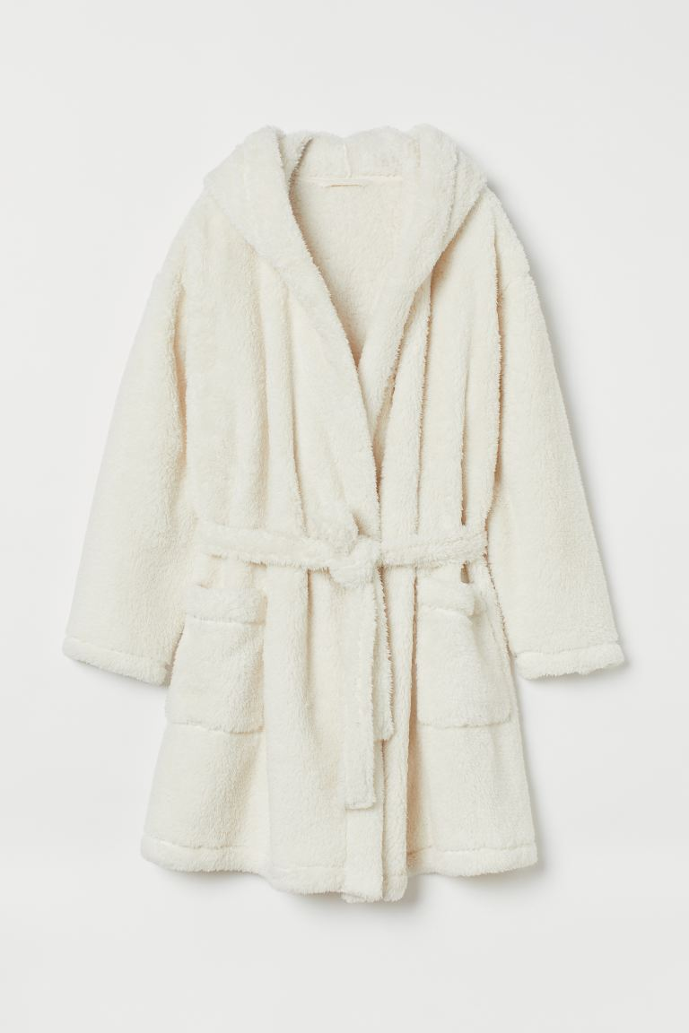 Pile dressing gown - Cream - Ladies | H&M GB