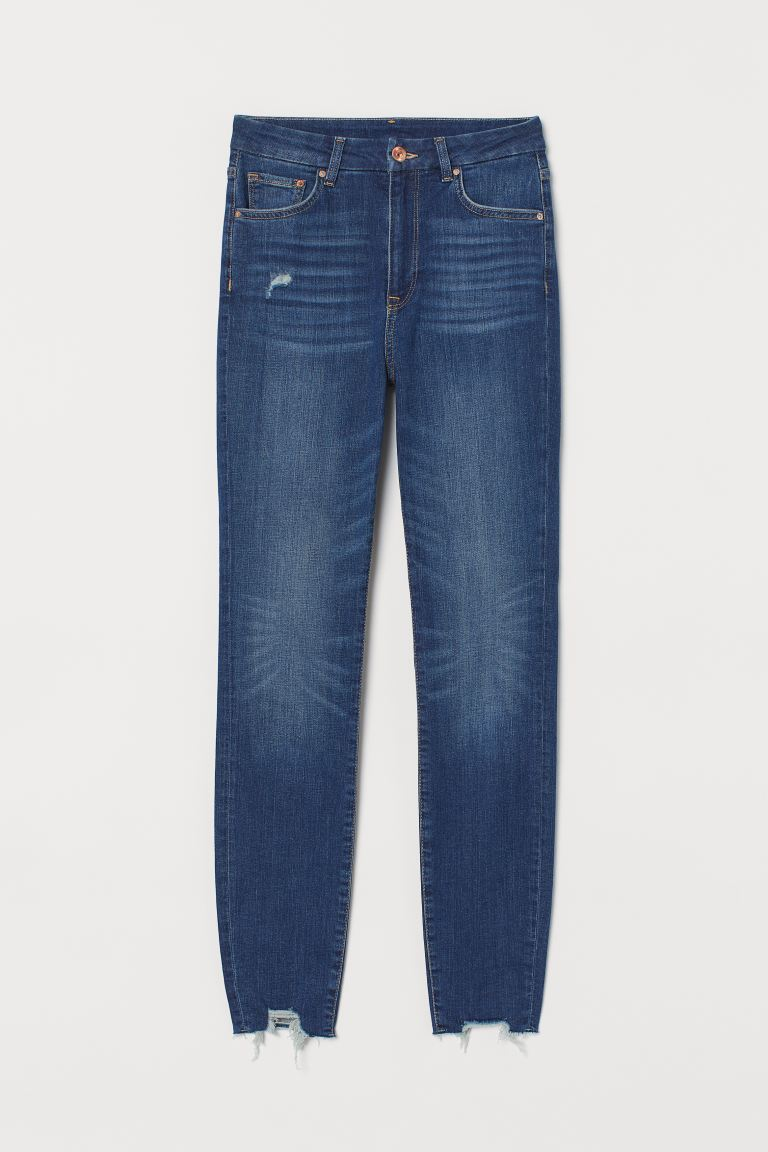 Embrace High Ankle Jeans - Dark denim blue - Ladies | H&M IN