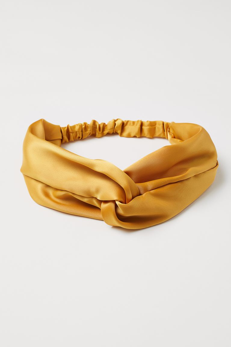 Hairband with a knot-detail - Mustard yellow - Ladies | H&M GB