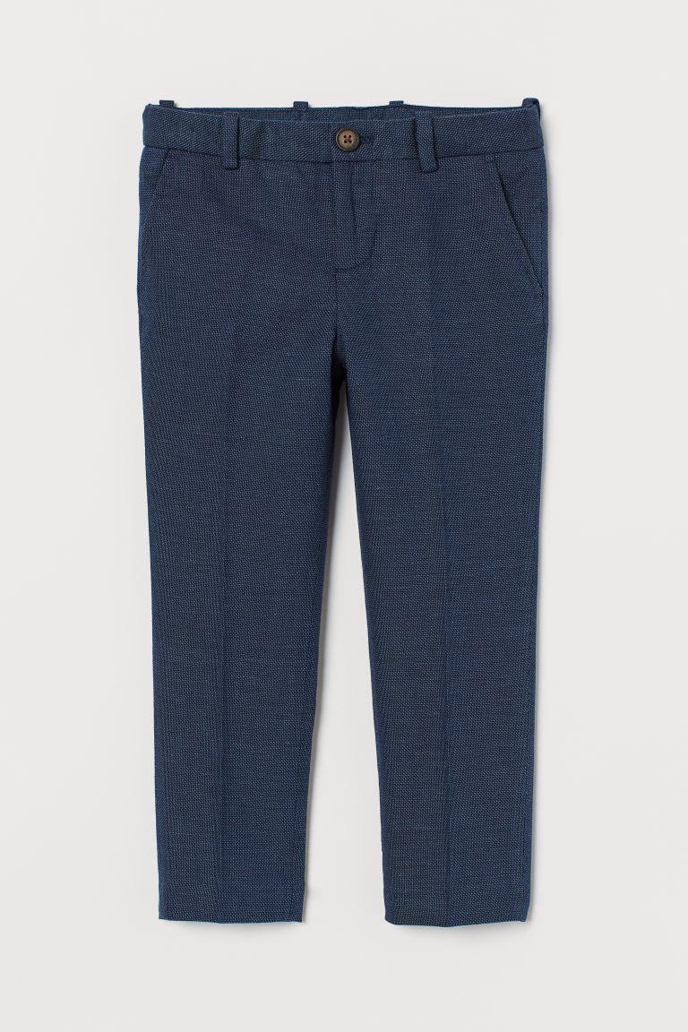 Suit trousers - Dark blue marl -  | H&M GB
