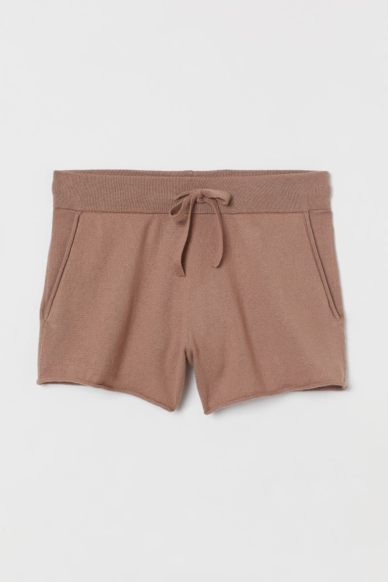 Shorts aus Kaschmirmix - Dunkles Taupe - Ladies | H&M AT 4