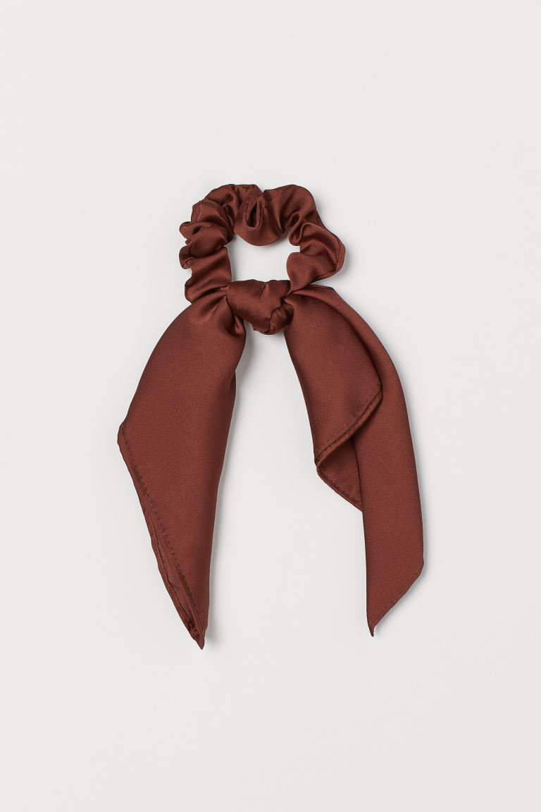 Scarf-detail scrunchie - Brown - Ladies | H&M GB