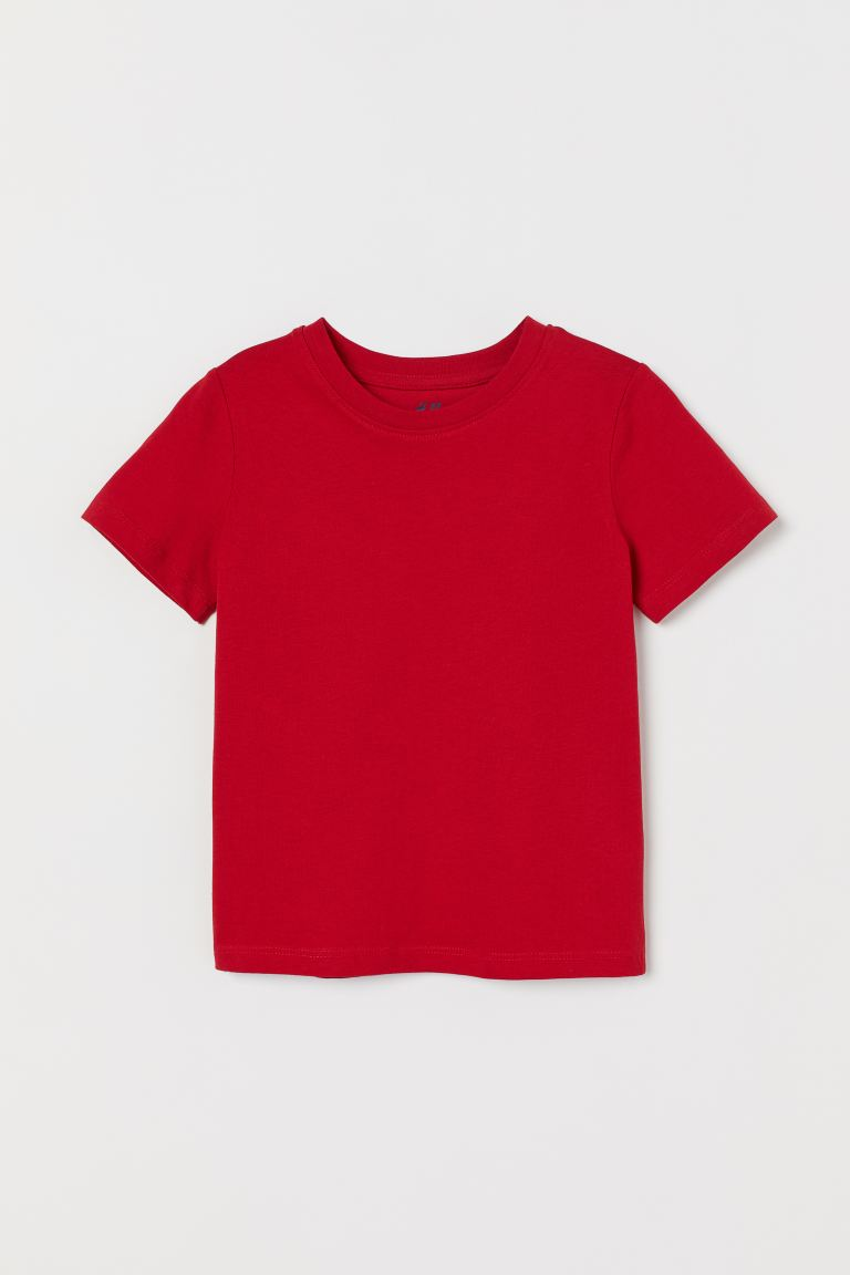Cotton T-shirt - Red - Kids | H&M US