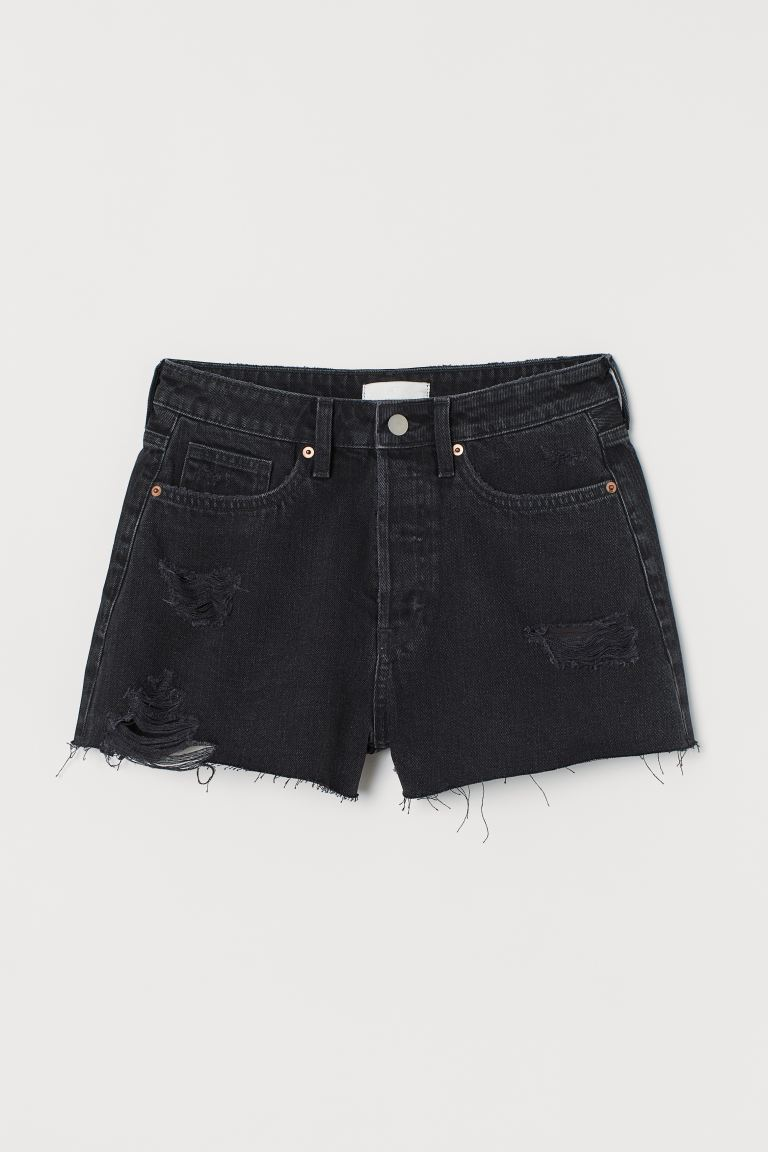 Denim short - Nearly black - DAMES | H&M NL
