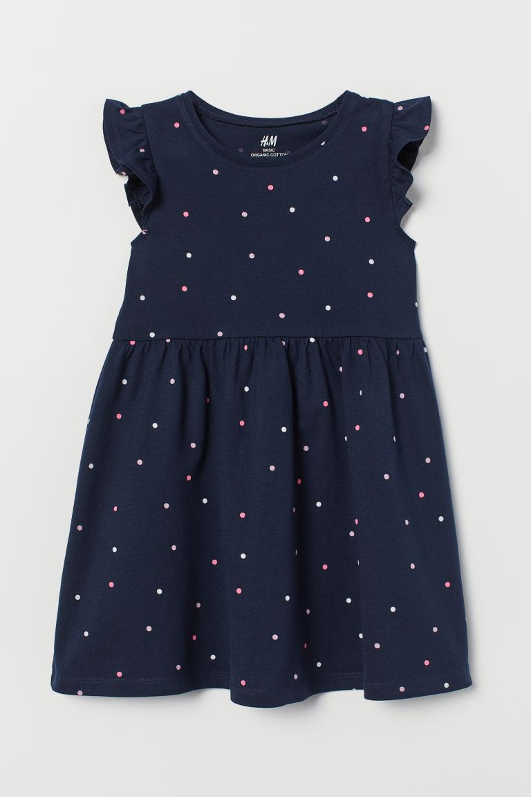 Jersey Dress - Dark blue/dotted - Kids | H&M US