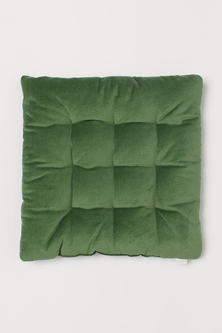 Velvet Seat Cushion - Green - Home All | H&M US