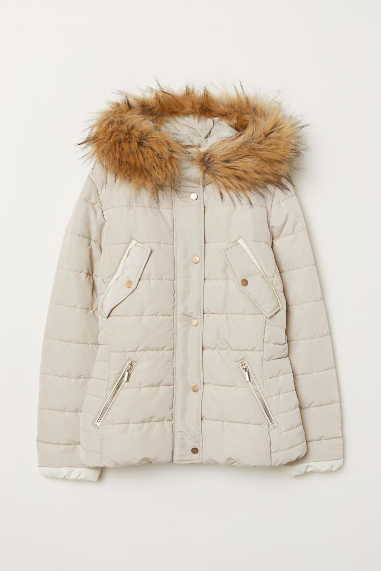 Padded jacket - Light beige - Ladies | H&M IE