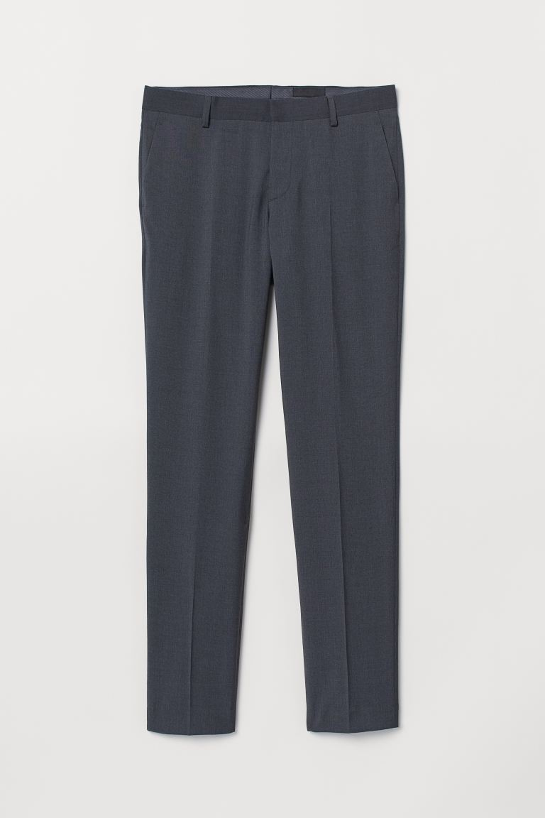 Pantalón de traje Slim Fit - Gris oscuro - Men | H&M US