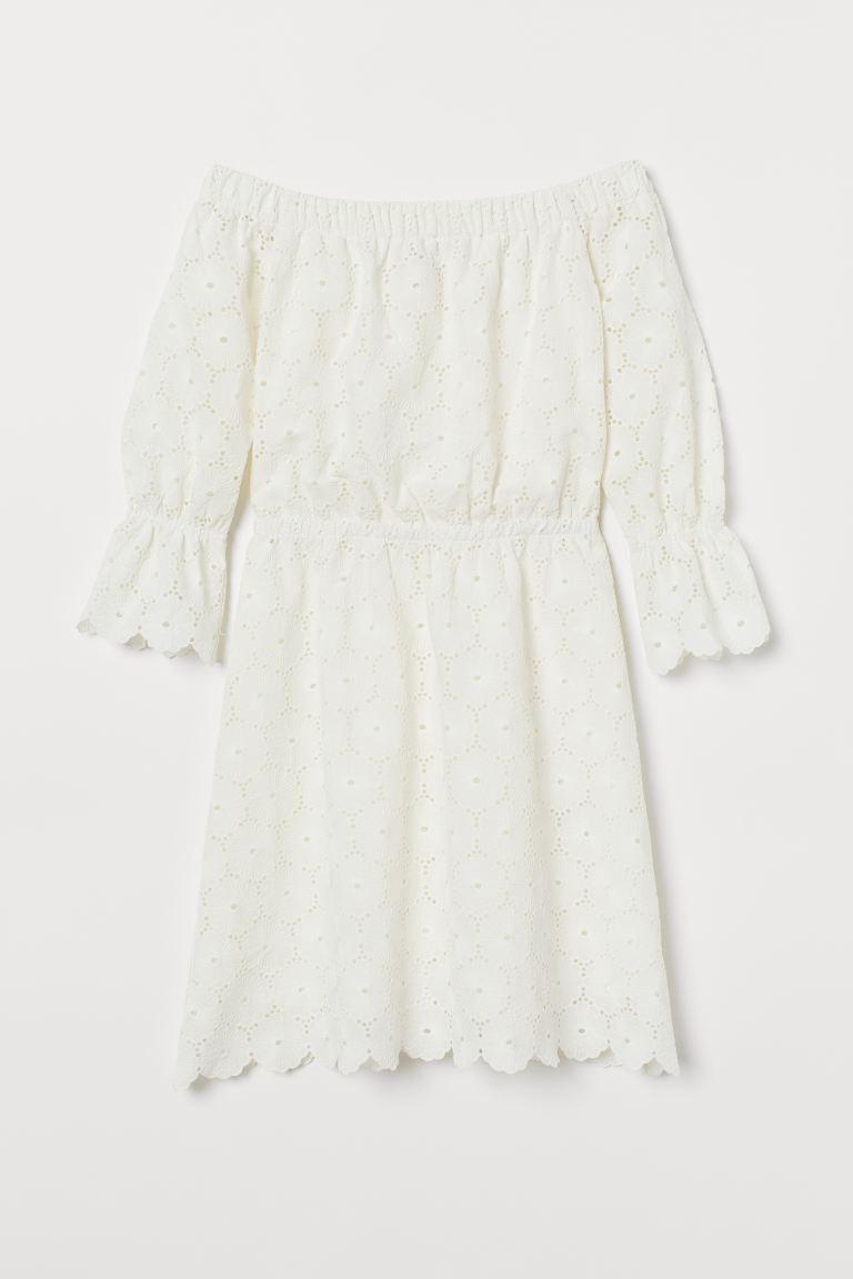 Off-Shoulder-Kleid - Cremefarben - Ladies | H&M DE