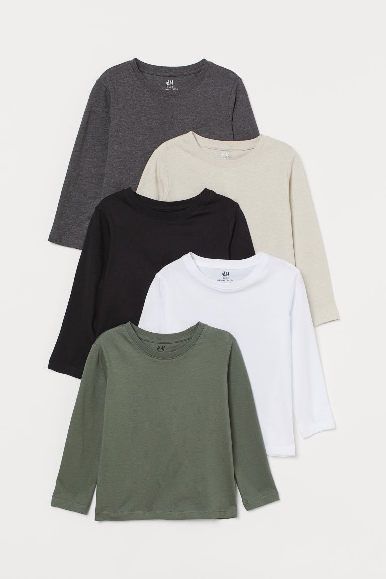5-pack jersey tops - Khaki green - Kids | H&M IE